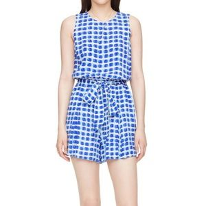 new Kate Spade Blue Island Stamp Romper w Pockets!